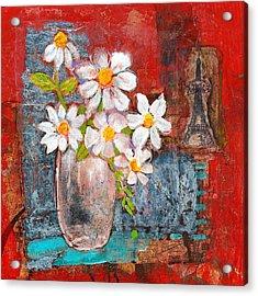 Abigail Daisy Flowers Acrylic Print by Blenda Studio