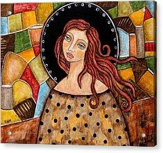 Abigail Acrylic Print by Rain Ririn