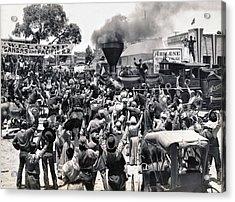 Abilene Movie Scene Acrylic Print by Underwood Archives