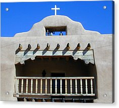 Abiquiu Church Number 2 Acrylic Print by Joseph R Luciano