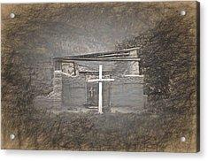 Abiquiu Nm Church Ruin Acrylic Print