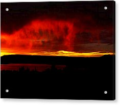 Acrylic Print featuring the painting Abiquiu Reservoir  by Dennis Ciscel