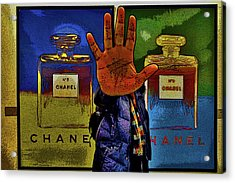 About Love. Chanel No. 5 Acrylic Print by Andy Za