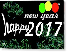 About New Year Acrylic Print