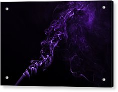 About Purple Acrylic Print