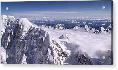 Above Denali Acrylic Print by Chad Dutson