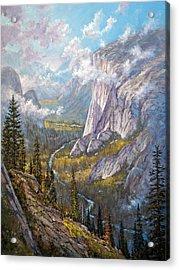 Above El Capitan Acrylic Print by Donald Neff