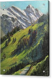 Above It All Plein Air Study Acrylic Print by Anna Rose Bain