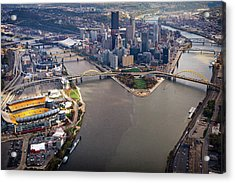 Above Pittsburgh In  Color  Acrylic Print
