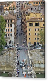 Above Ponte Sant'angelo Acrylic Print by JAMART Photography