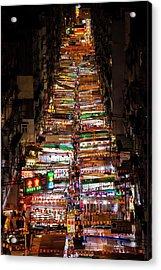 Above Temple Street Night Market Acrylic Print by Luke Finch
