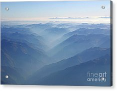 Above The Andes Acrylic Print by Matt Tilghman