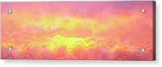 Above The Clouds - Abstract Art Acrylic Print by Jaison Cianelli
