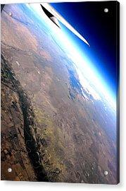 Above The Earth Acrylic Print by Elizabeth Hoskinson