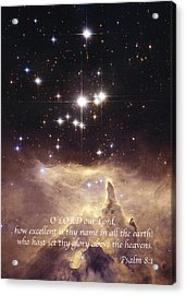 Above The Heavens Acrylic Print by Michael Peychich