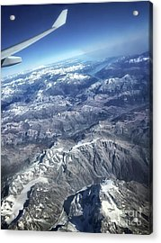 above the Swiss Alps Acrylic Print by HD Connelly
