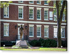 Acrylic Print featuring the photograph Abraham Baldwin Statue At Uga by Parker Cunningham