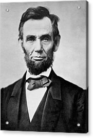 Acrylic Print featuring the photograph Abraham Lincoln -  Portrait by International  Images