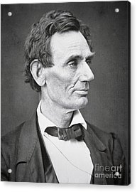 Abraham Lincoln Acrylic Print by Alexander Hesler