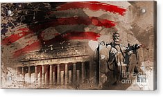 Acrylic Print featuring the painting Abraham Lincoln by Gull G