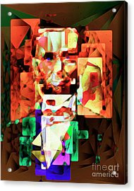 Acrylic Print featuring the photograph Abraham Lincoln In Abstract Cubism 20170327 by Wingsdomain Art and Photography
