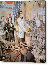 Abraham Lincoln In Public Debate With Stephen A Douglas In Illinois, 1858  Acrylic Print