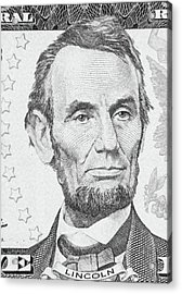 Acrylic Print featuring the photograph Abraham Lincoln by Les Cunliffe