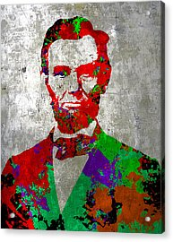 Abraham Lincoln On Silver - Amazing President Acrylic Print