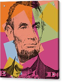 Abraham Lincoln Pop Art Acrylic Print