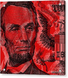 Abraham Lincoln Pop Art Acrylic Print