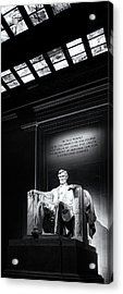 Abraham Lincoln Seated Acrylic Print by Andrew Soundarajan