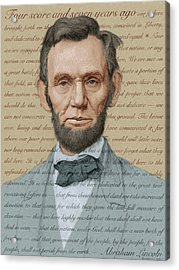 Abraham Lincoln - Soft Palette Acrylic Print