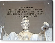 Abraham Lincoln Statue - 2 Acrylic Print