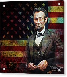 Abraham Lincoln The President  Acrylic Print by Gull G