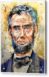 Abraham Lincoln Watercolor Acrylic Print