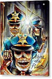 Abre La Puerta Acrylic Print by Heather Calderon