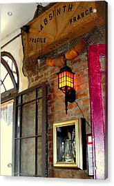 Absinthe Bar Acrylic Print by Ted Hebbler