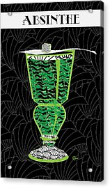 Absinthe Cocktail Art Deco Swing Acrylic Print by Cecely Bloom