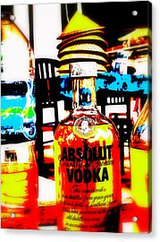 Absolut Gasoline Refills For Bali Bikes Acrylic Print by Funkpix Photo Hunter