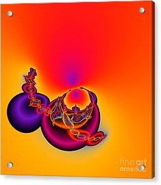 Abstact 12 A Tex Acrylic Print by Rolf Bertram