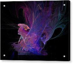 Abstact Pink Swan Acrylic Print