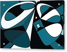 Abstrac7-30-09-a Acrylic Print by David Lane