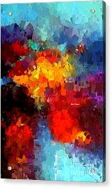 Acrylic Print featuring the digital art Abstract 034 by Rafael Salazar