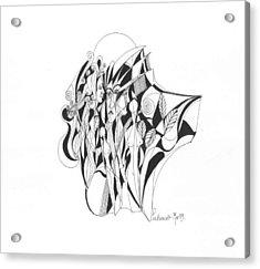 Abstract 1-09 Acrylic Print by Padamvir Singh