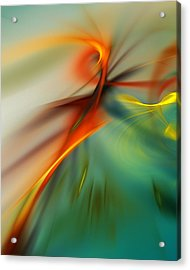 Abstract 110910b Acrylic Print by David Lane