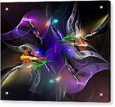 Abstract 112211 Acrylic Print by David Lane
