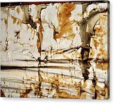 Acrylic Print featuring the photograph Abstract 1317 Old Wallpaper As Landscape by Kae Cheatham