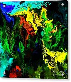 Abstract 2-23-09 Acrylic Print by David Lane