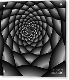 Abstract 219 Bw Acrylic Print by Rolf Bertram