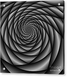 Abstract 220 Bw Acrylic Print by Rolf Bertram